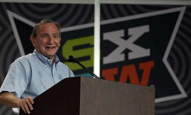 Stratfor CEO George Friedman speaks during SXSW Interactive in Austin.