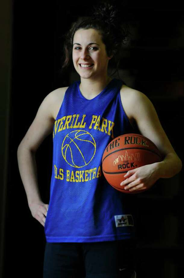 Averill Park basketball player Elaina Ryan and her teammates are preparing for their Class A semifinal showdown on Friday with Pearl River in the  state basketball tournament, on Monday March 12, 2012 in Averill Park, N.Y.   (Philip Kamrass / Times Union ) Photo: Philip Kamrass / 00016774A