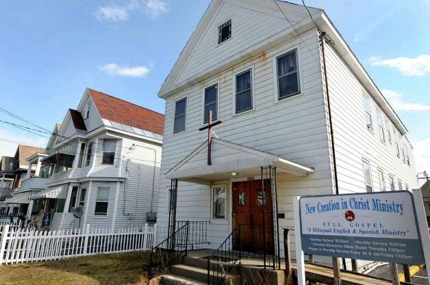 New Creation in Christ Ministries church is facing foreclosure on Tuesday, March 13, 2012, at  in Schenectady, N.Y. The city sold the liens to a collection agency, even though the church is a nonprofit and isn't required pay taxes. (Cindy Schultz / Times Union) Photo: Cindy Schultz / 00016793A