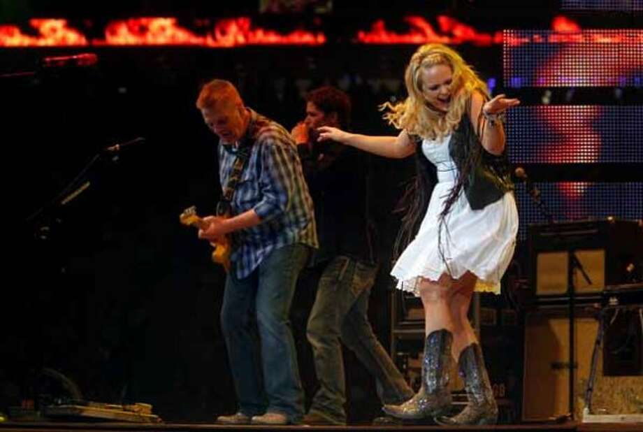 Miranda Lambert performs March 13, 2012, at the Houston Livestock Show and Rodeo. (Mayra Beltran / Houston Chronicle)