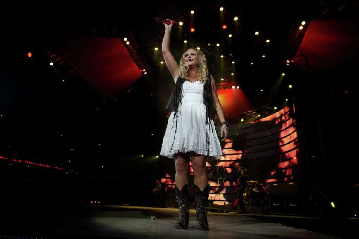 Miranda Lambert performs at the Houston Livestock Show and Rodeo at Reliant Stadium on Tuesday, March 13, 2012, in Houston. ( Mayra Beltran / Houston Chronicle )