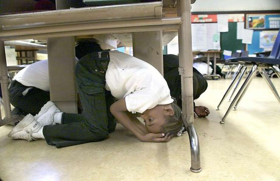 Think it's not worth getting under your desk for any earthquake under 6.0. (Michael Maloney / The Chronicle)