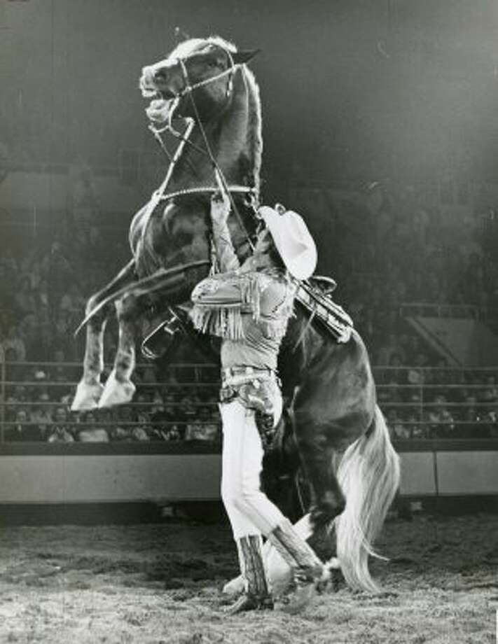 Cowboy star Rex Allen on Feb. 23, 1961.  (Bayou City History / Tom Colburn : Chronicle file)