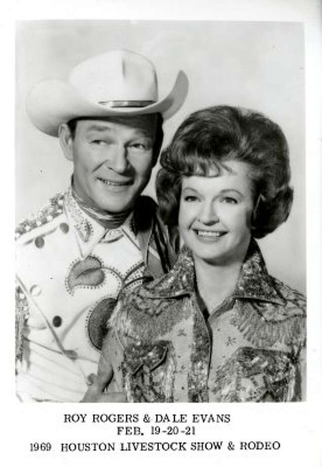 Roy Rogers and Dale Evans at the 1969 Houston Livestock Show and Rodeo