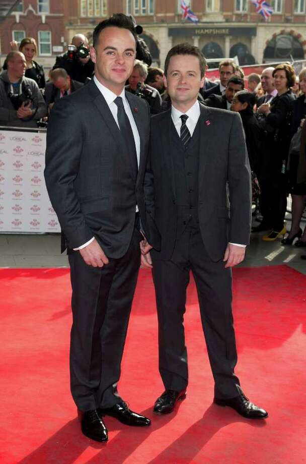 Anthony McPartlin and Declan Donnelly arrive for The Prince's Trust Success Awards at a central London venue Wednesday, March 14, 2012. (AP Photo/Jonathan Short) Photo: Jonathan Short, Associated Press / AP