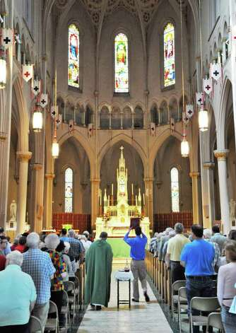 Mass begins at St. Patrick's church in Watervliet Saturday Sept. 24, 2011, for one of the last services at the church before it closed.  (John Carl D'Annibale / Times Union archive) Photo: John Carl D'Annibale / 00014733A