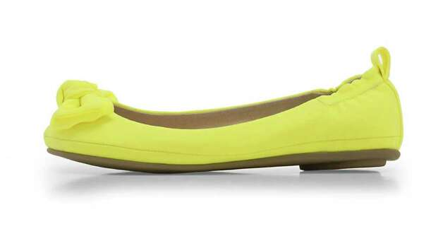 Afraid of yellow clothing? Try this Vivanco ballerina flat from JCPenney. Photo: JCPenney