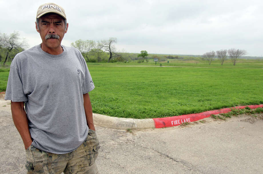 """Luis Flores has golfed at Mission Del Lago Municipal golf course for about eight years and was surprised the course was closed when he arrived Wednesday. Calling the course his """"home court,"""" Flores is looking forward to Mission Del Lago opening back up. The course was closed because a golfer was shot there and other shots have been heard there recently. A shooting range is not too far away from the course. John Davenport/San Antonio Express-News Photo: JOHN DAVENPORT, SAN ANTONIO EXPRESS-NEWS / SAN ANTONIO EXPRESS-NEWS (Photo can be sold to the public)"""