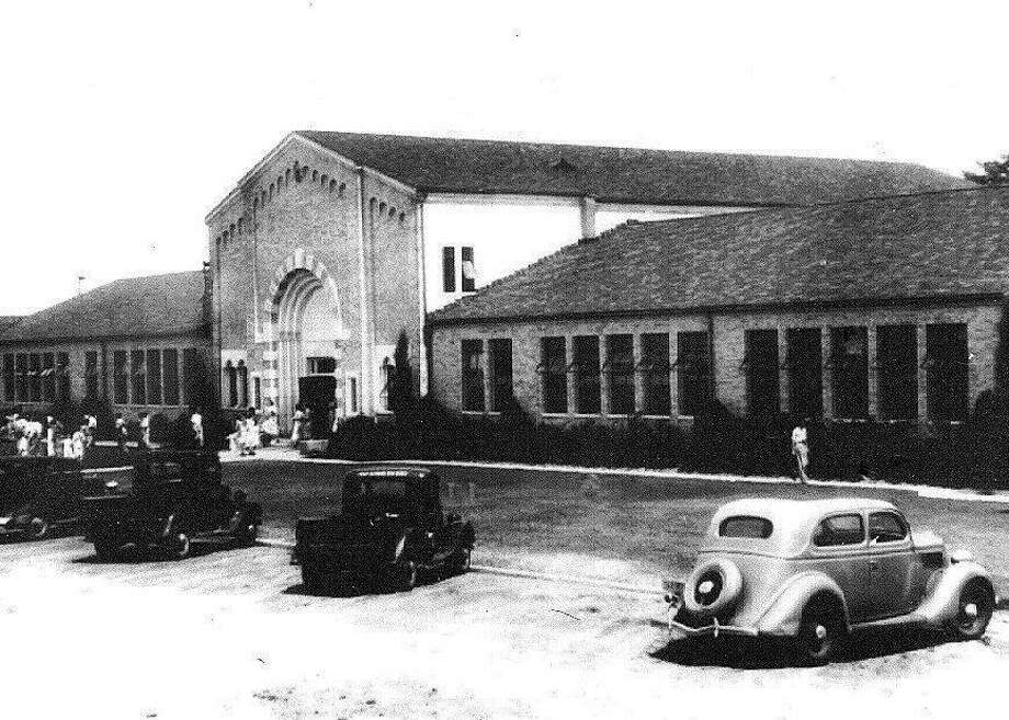 Thanks to oil tax revenue, the steel-and-concrete New London school was built to last -- for $1 million during the Great Depression. Photo: Courtesy London Museum And TAMU Press