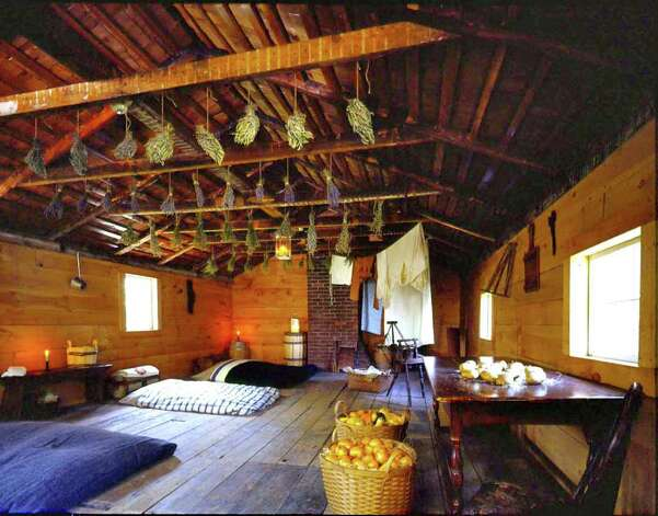 The attic slave quarters at the Bush-Holley House will be home for one night, March 30, to Joseph McGill Jr., a descendant of slaves and founder of the Slave Dwelling Project of the National Trust for Historical Preservation. Photo: Contributed Photo