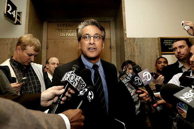San Francisco Sheriff, Ross Mirkarimi, stops to talks to the media after leaving Department 24, where he was making a pre-trial court appearance at the Hall of Justice, San Francisco, Ca., on Wednesday Feb. 22 2012. Photo: Michael Macor, SFC