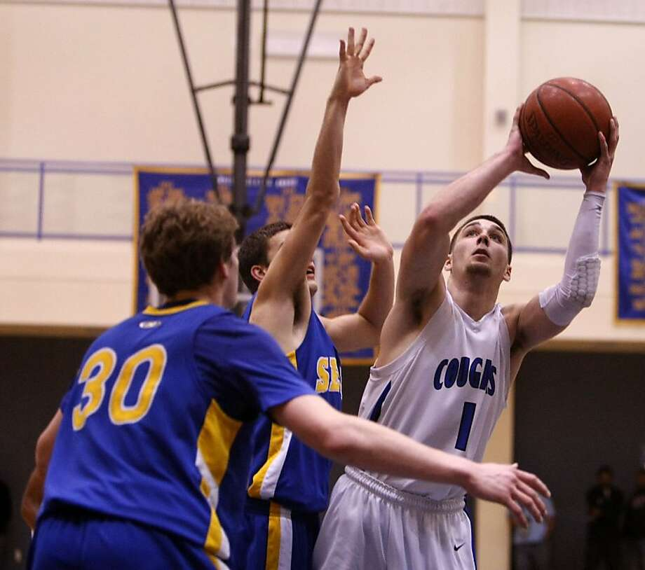 Newark Memorial's Casey Norris takes a shot against a Serra player. Newark Memorial hosted Serra at  during the NorCal Boys basketball semifinals on Tuesday, March 13, 2012. Photo: Sean Culligan, The Chronicle