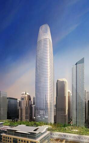 The proposed Transbay Tower at First and Mission streets calls for a 1,070 foot high building -- more than 200 feet taller than the Transamerica Pyramid, now San Francisco's tallest building. The top 150 feet are hollow. Photo: Pelli Clarke Pelli