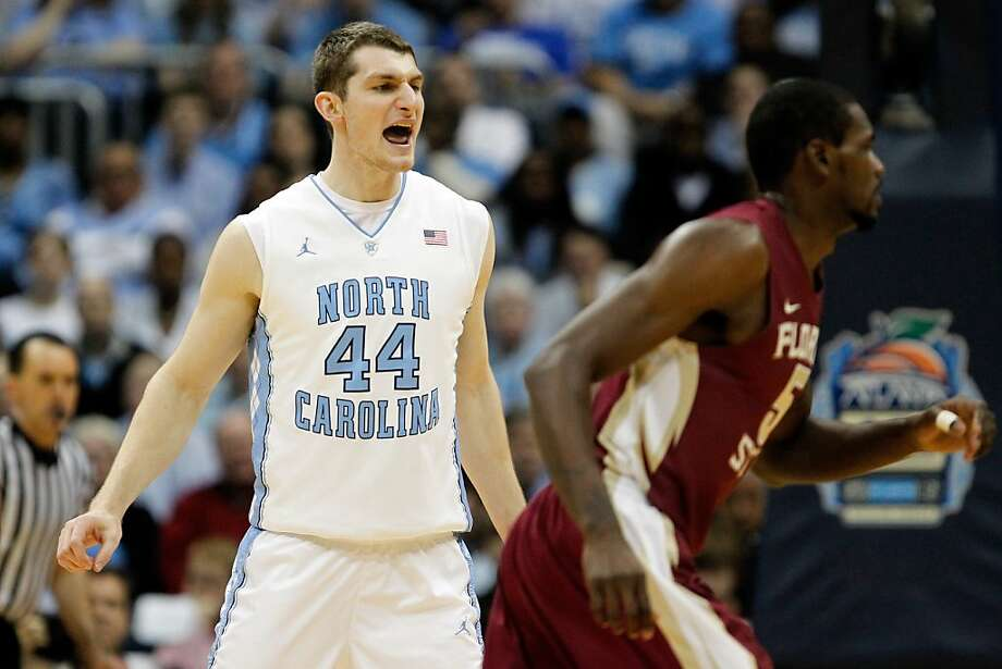 ATLANTA, GA - MARCH 11:  Tyler Zeller #44 of the North Carolina Tar Heels reacts against the Florida State Seminoles during the Final Game of the 2012 ACC Men's Basketball Conference Tournament at Philips Arena on March 11, 2012 in Atlanta, Georgia.  (Photo by Streeter Lecka/Getty Images) Photo: Streeter Lecka, Getty Images