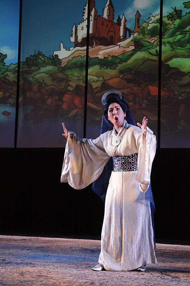 "Elyse Nakajima as Queen Starfire (The Queen of the Night) in ""The Manga Flute"" at West Edge Opera Photo: Jamie Buschbaum"