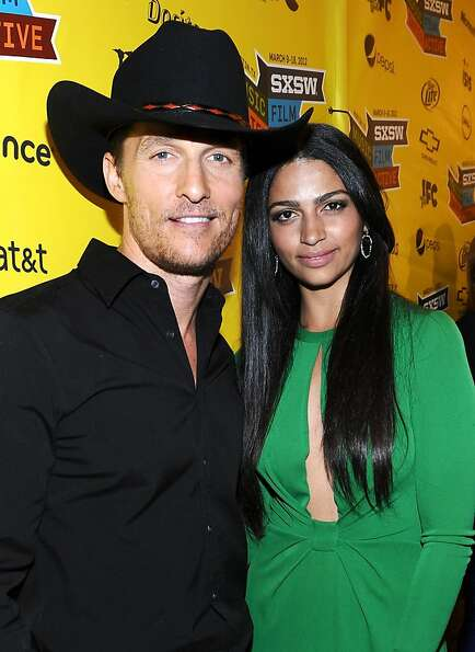 AUSTIN, TX - MARCH 10:  Actor Matthew McConaughey (L) and designer Camila Alves arrive at the U.S. P