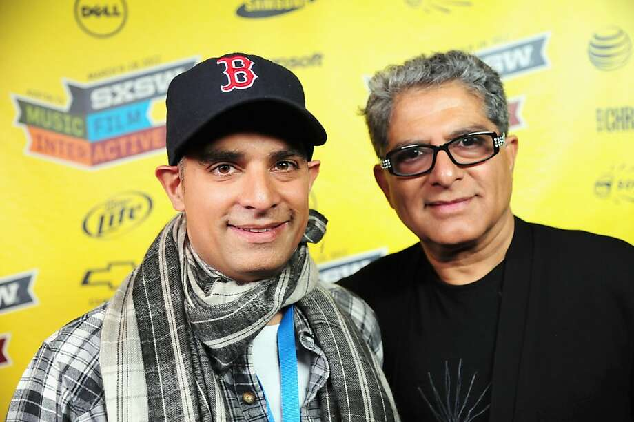 "AUSTIN, TX - MARCH 11:  Filmmaker Gotham Chopra and Dr. Deepak Chopra attend ""Decoding Deepak"" Greenroom Photo Op during the 2012 SXSW Music, Film + Interactive Festival at Paramount Theatre on March 11, 2012 in Austin, Texas.  (Photo by Karl Walter/Getty Images for SXSW) Photo: Karl Walter, Getty Images For SXSW"