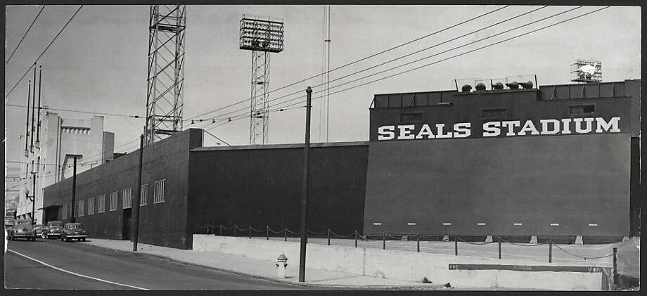 Seals Stadium on April 3, 1951. The structure used to stand at 16th and Bryant, now the location of an Office Depot and a Safeway. Photo: SF Chronicle Archive, The Chronicle