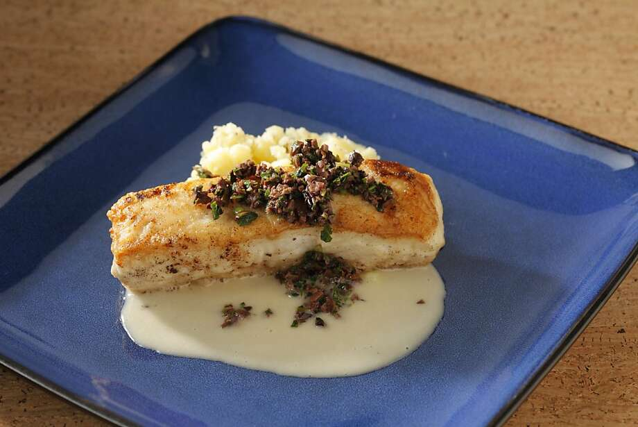 Roasted Local Halibut with Meyer Lemon Smashed Potatoes, Beurre Blanc & Olive Tapenade. Styling by Stephanie Kirkland. Photo: Craig Lee, Special To The Chronicle