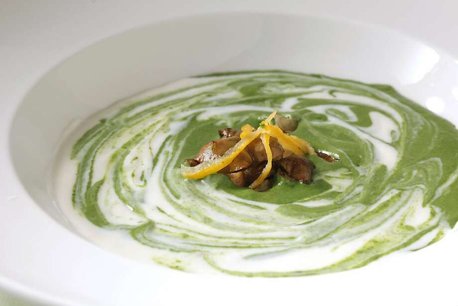 Sunchoke Vichyssoise With Nettles & Preserved Lemon Photo: Craig Lee, Special To The Chronicle