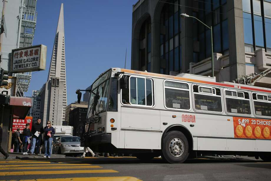 The trolley buses on heavily used Muni lines like the 30-Stockton are showing their age, and 60 new ones are on their way and should hit the streets in 2015. Photo: Erik Verduzco, The Chronicle