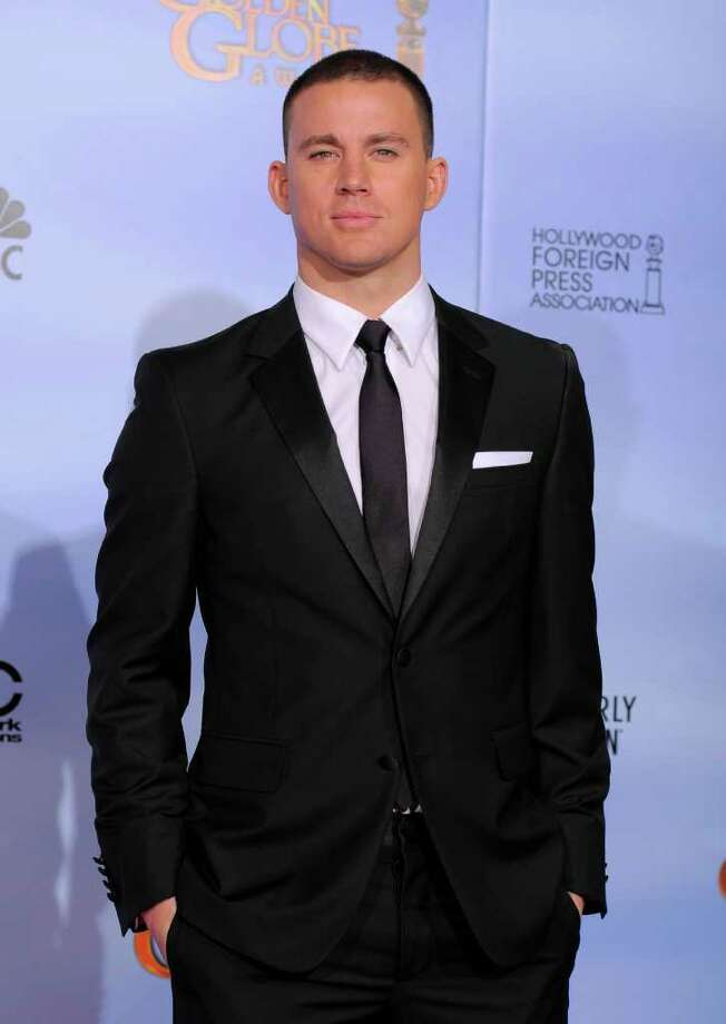 Actor Channing Tatum poses backstage during the 69th Annual Golden Globe Awards Sunday, Jan. 15, 2012, in Los Angeles. (AP Photo/Mark J. Terrill) Photo: Mark J. Terrill / AP