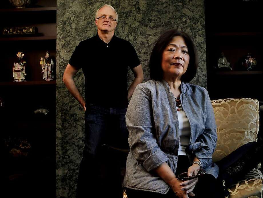 Linda and Rick Frasch at their home in San Francisco, Ca. on Thursday March 8, 2012. Linda Frasch, has some pretty strong opinions about colonoscopies, her husband Rick was diagnosed at age 47 with colon cancer, he was treated and is now all clear. She credits the colonoscopy with finding the cancer. She herself had her first colonoscopy at age 50 and at her most recent one, two polyps were discovered. She really feels that exam save lives. Photo: Michael Macor, SFC