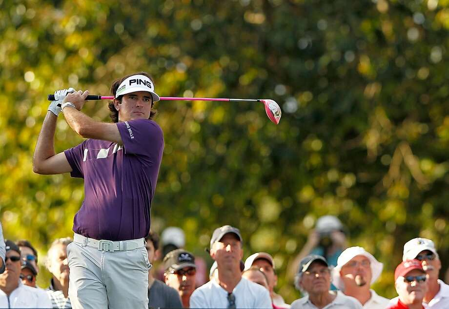 Bubba Watson hits his tee shot on  the 16th hole during the third round of the World Golf Championship's Cadillac Championship at Doral Golf Resort And Spa on March 10, 2012 in Miami, Florida. Photo: Mike Ehrmann, Getty Images