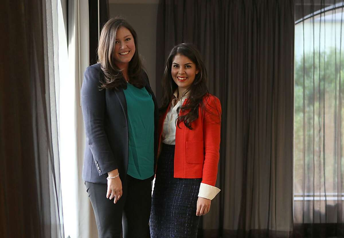 The Levo League co-founders Amanda Pouchot (left) and Caroline Ghosn (right) were keynote speakers at the Exceptional Women in Publishing conference in San Francisco Calif., on Wednesday, March 7, 2012. The Levo League is an online community designed to guide Gen Y professional women through career challenges and development.