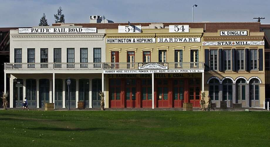 """The Huntington, Hopkins & Company Hardware Store and Stanford Brothers Warehouse together comprise the """"Big Four Building"""" in Old Sacramento. Photo: Sacramento CVB"""