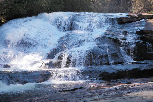 Triple Falls at DuPont State Recreational Forest near Brevard. The forest was used as a location for