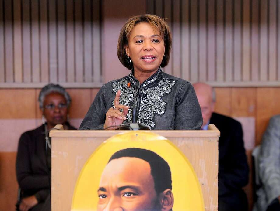 U.S. Congresswoman Barbara Lee (D - 9th District, Oakland) speaks at a Martin Luther King Day celebration on Monday, Jan. 17, 2011, in Oakland, Calif. Photo: Noah Berger, Special To The Chronicle
