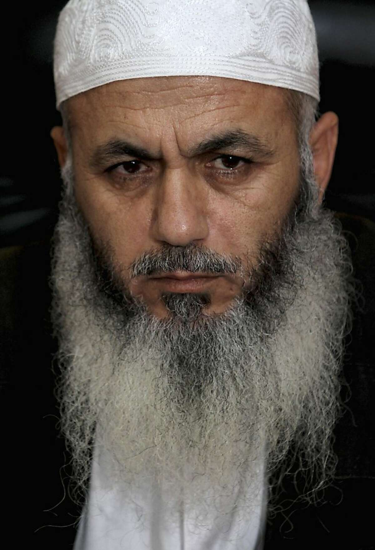 In this Oct. 22, 2011 file photograph, Zuhair al-Qaissi, a secretary-general of the armed wing of the Popular Resistance Committees (PRC) sits during an interview to the Associated Press in his office in Gaza City. An Israeli airstrike killed a top Palestinian militant commander in Gaza on Friday March 9, 2012 in the highest profile attack against the coastal strip in months. The Israeli military confirmed the strike, saying the slain commander Zuhair al-Qaissi was plotting an infiltration attack into Israel similar to one his group carried out in August that killed eight people. (AP Photo/Hatem Moussa, File)