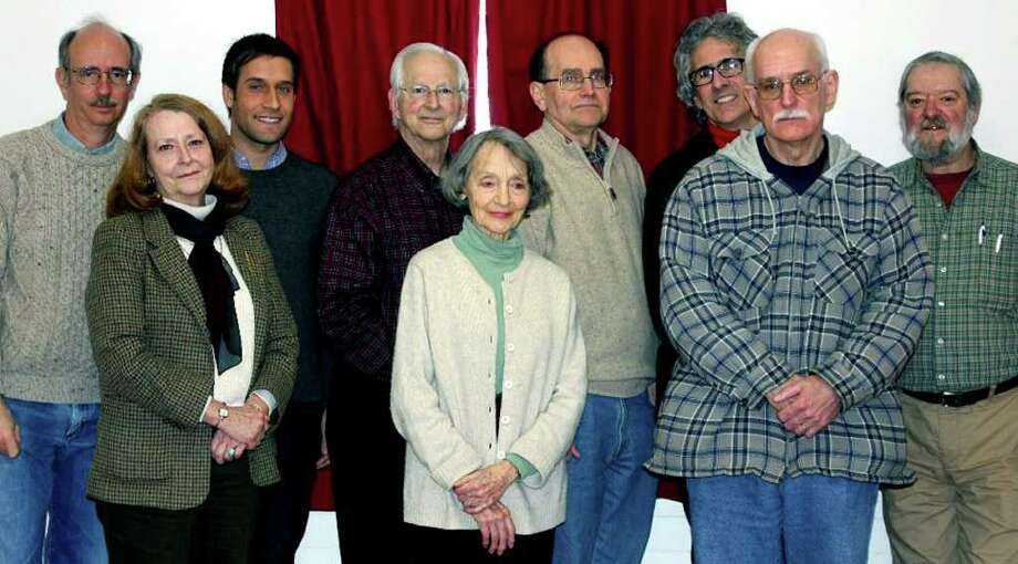 SPECTRUM/Among those active in the creation of the Washington History Club are, from left to right, front row, Susan McMaster, Nancy Babington and Doug McHan; and, back, Michael Bird, Gunn Memoural Museum curator Stephen Bartkus, Willie Smith, David Babington, Joseph Mustich and Douglas Schlicher. The club will hold a meeting March 19.  Courtesy of Stephen Bartkus Photo: Contributed Photo