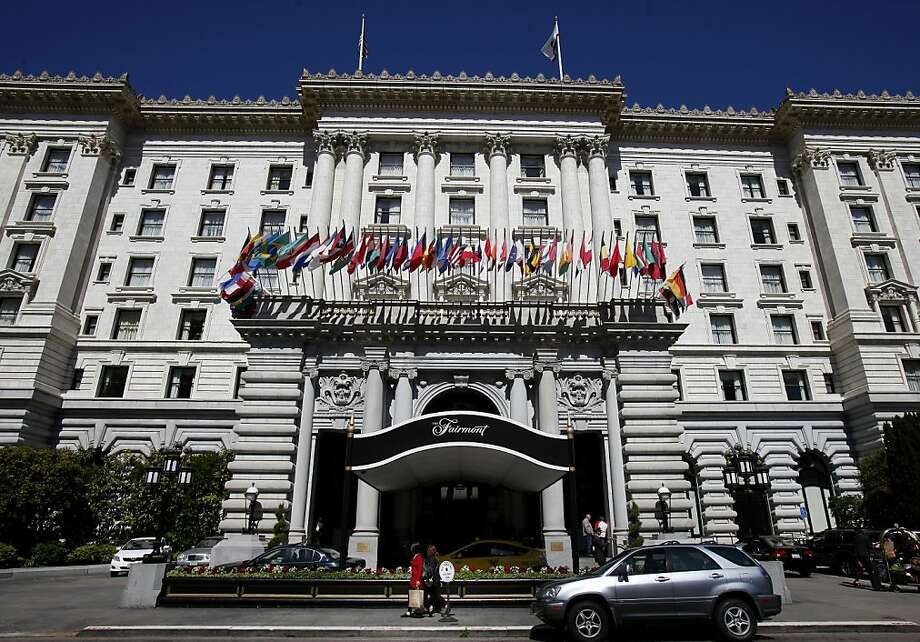 The Fairmont Hotel on Nob Hill is full of history and has hosted many dignitaries in the past. The Fairmont Hotel, one of the most famous hotels in San Francisco, Calif is being put up for sale. Photo: Brant Ward, The Chronicle