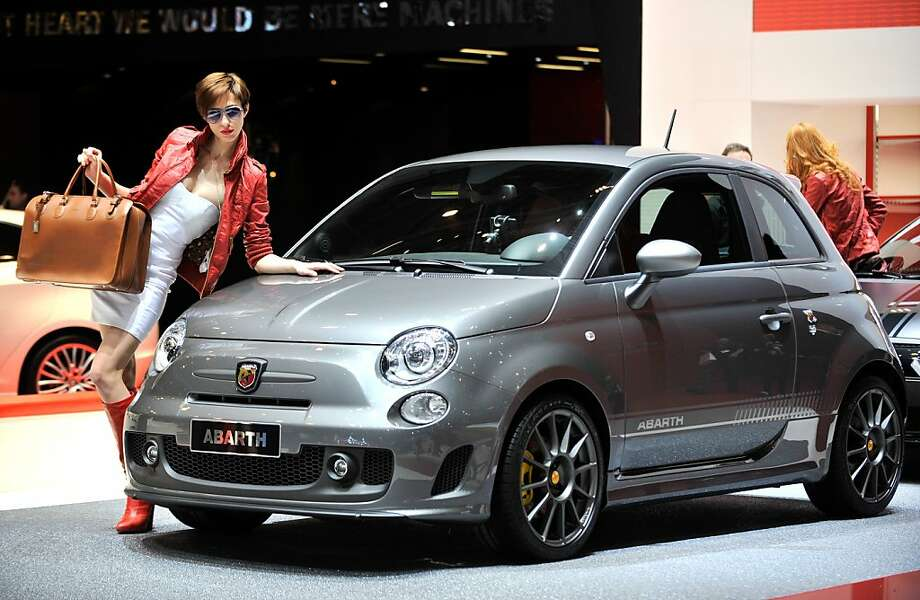 A Abarth 595 Competizione is displayed at the Italian car maker's booth  during a press day ahead of the 82nd Geneva Motor Show on March 6, 2012 in Geneva. Some 700 carmakers hold a press preview of their newest batch of automobiles at the Geneva Motor Show, which opens to the public from March 8 to 18. Photo: Sebastien Feval, AFP/Getty Images