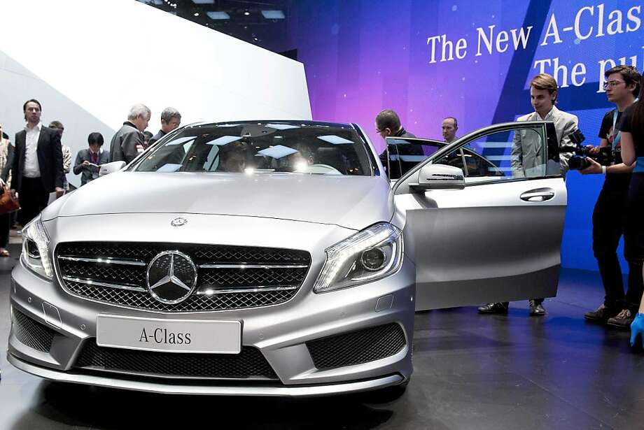 The new Mercedes A-Class is shown during the press day at the 82st Geneva International Motor Show in Geneva, Switzerland, Tuesday, March 6, 2012. The Motor Show will open its gates to the public from 8th to 18th of March presenting more than 260 exhibitors and more than 180 world and European premieres. Photo: Sandro Campardo, Associated Press