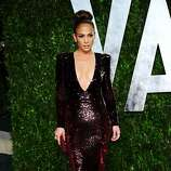 WEST HOLLYWOOD, CA - FEBRUARY 26:  Jennifer Lopez arrives at the 2012 Vanity Fair Oscar Party hosted by Graydon Carter at Sunset Tower on February 26, 2012 in West Hollywood, California.  (Photo by Alberto E. Rodriguez/Getty Images)