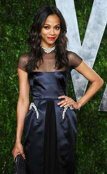 WEST HOLLYWOOD, CA - FEBRUARY 26:  Actress Zoe Saldana arrives at the 2012 Vanity Fair Oscar Party hosted by Graydon Carter at Sunset Tower on February 26, 2012 in West Hollywood, California.  (Photo by Alberto E. Rodriguez/Getty Images) Photo: Alberto E. Rodriguez, Getty Images