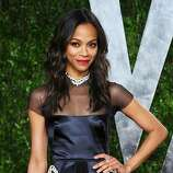 WEST HOLLYWOOD, CA - FEBRUARY 26:  Actress Zoe Saldana arrives at the 2012 Vanity Fair Oscar Party hosted by Graydon Carter at Sunset Tower on February 26, 2012 in West Hollywood, California.  (Photo by Alberto E. Rodriguez/Getty Images)