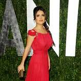 WEST HOLLYWOOD, CA - FEBRUARY 26:  Actress Salma Hayek arrives at the 2012 Vanity Fair Oscar Party hosted by Graydon Carter at Sunset Tower on February 26, 2012 in West Hollywood, California.  (Photo by Pascal Le Segretain/Getty Images)