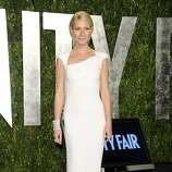 Gwyneth Paltrow arrives at the Vanity Fair Oscar party on Sunday, Feb. 26, 2012, in West Hollywood, Calif. (AP Photo/Evan Agostini)