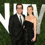 WEST HOLLYWOOD, CA - FEBRUARY 26:  Actor Ty Burrell (L) and Holly Burrell arrive at the 2012 Vanity Fair Oscar Party hosted by Graydon Carter at Sunset Tower on February 26, 2012 in West Hollywood, California.  (Photo by Pascal Le Segretain/Getty Images)