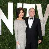 WEST HOLLYWOOD, CA - FEBRUARY 26: TV personality Julie Chen and TV executive Les Moonves  arrive at the 2012 Vanity Fair Oscar Party hosted by Graydon Carter at Sunset Tower on February 26, 2012 in West Hollywood, California.  (Photo by Pascal Le Segretain/Getty Images)