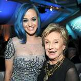 BEVERLY HILLS, CA - FEBRUARY 26:  Singer Katy Perry and Actress Cloris Leachman attend the 20th Annual Elton John AIDS Foundation Academy Awards Viewing Party at The City of West Hollywood Park on February 26, 2012 in Beverly Hills, California.  (Photo by Larry Busacca/Getty Images for EJAF)