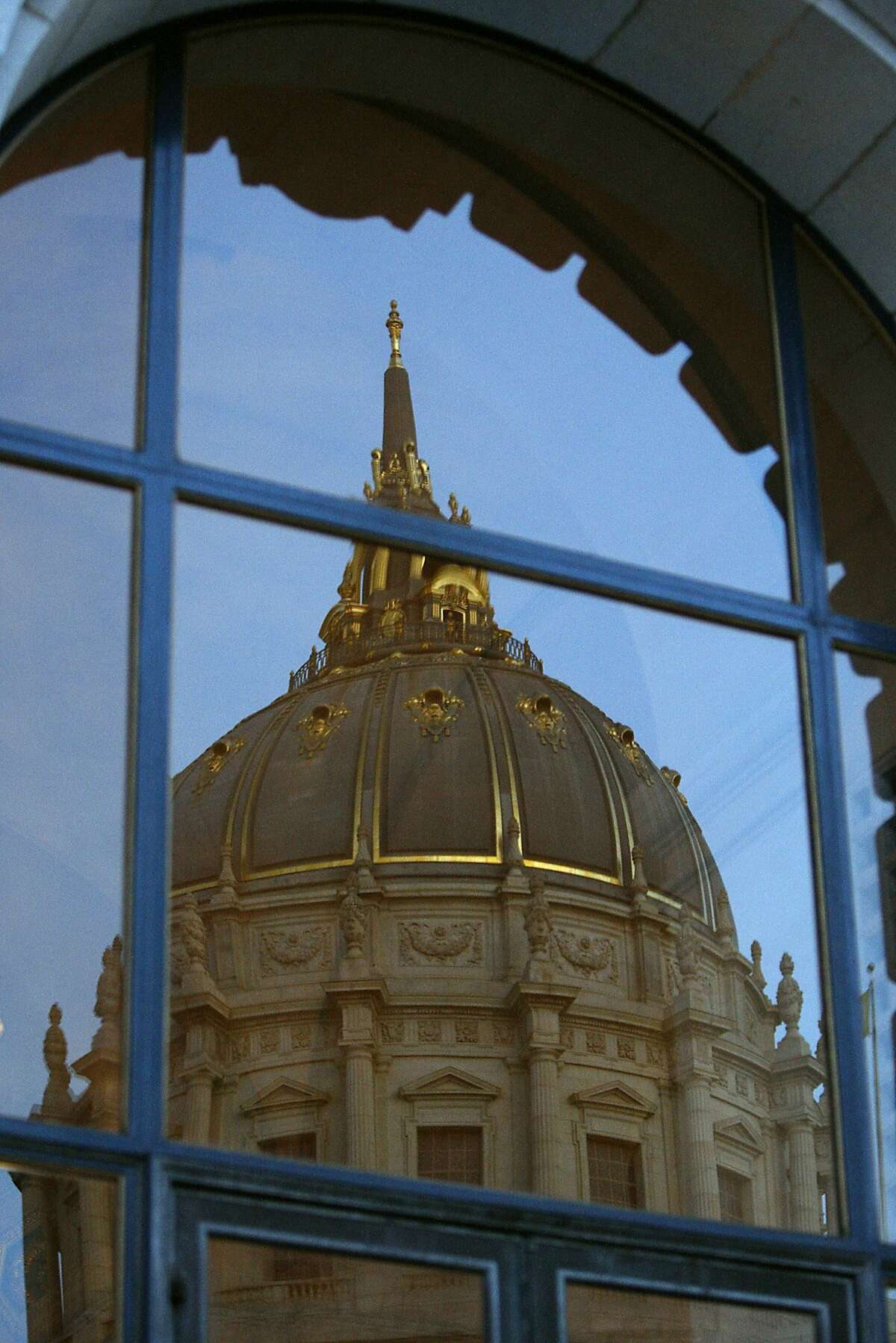 San Francisco City Hall's imposing sandstone and marble dome is modeled after St. Peter's Basilica in Rome and is higher than the U.S. Capitol in Washington.