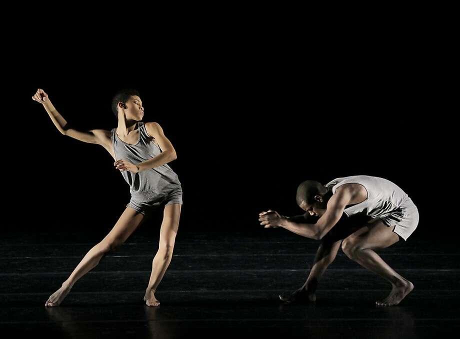 alvin ailey dance company: Pictured: Ghrai DeVore and Kiven J Boyd perform Minus 16 March 13   18, 2012.  PHOTO: Paul Kolnik Photo: Paul Kolnik