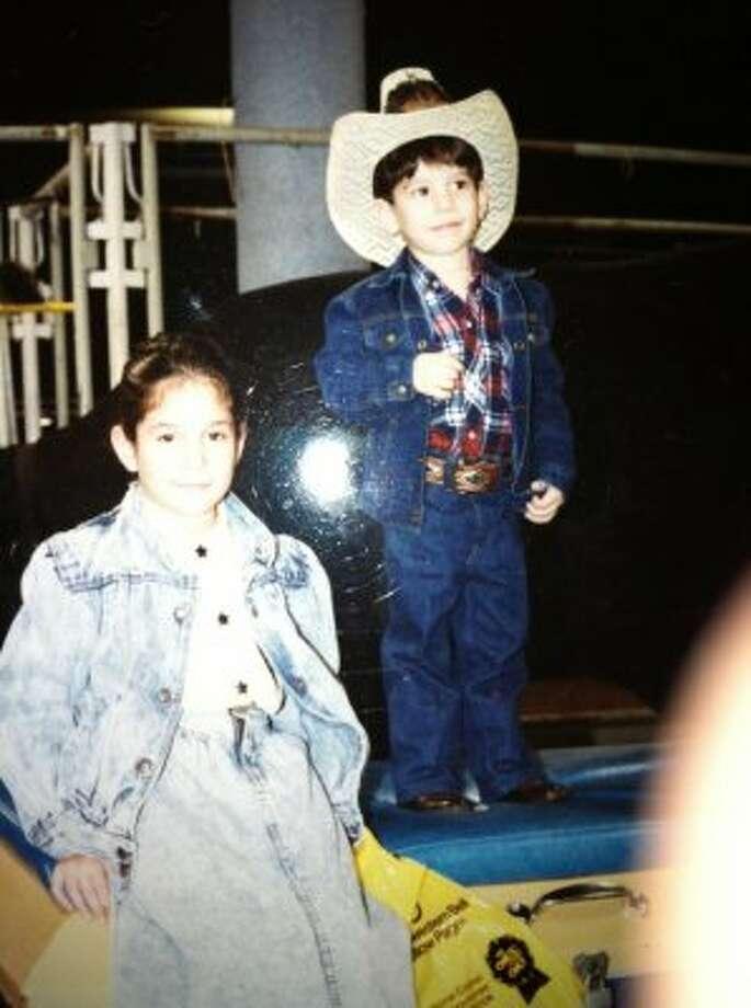Tania Ramirez 8yrs old, Julio Ramirez 3yrs. (1988)  (Tania Loredo)