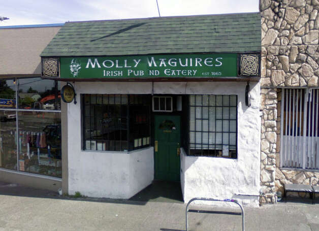 Molly Maguires at 610 N.W. 65th St. has more of a dive bar feel, but expect live music and at least a dozen cold beers on tap. Photo: Google Street View