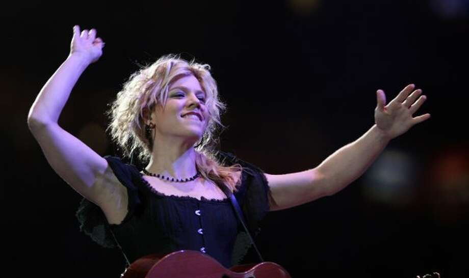 Kimberly Perry of The Band Perry performs at RodeoHouston on March 14. (James Nielsen / Chronicle)